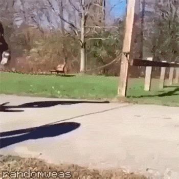 Никогда не прыгайте через цепь