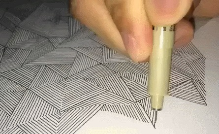 Рисунок от руки. Идеально ровно Линия, Перфекционизм, Ровно, Гифка