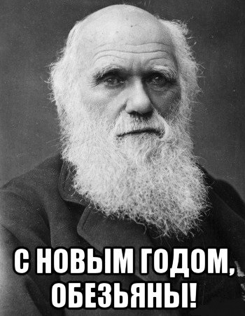 Дарвин поздравляет Вас