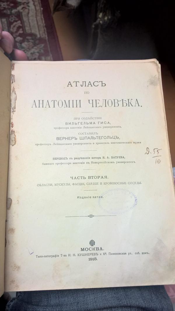 Лежала у бабушки книжка Анатомия, Вернеръ Шпальтегольцъ, Книги, Длиннопост