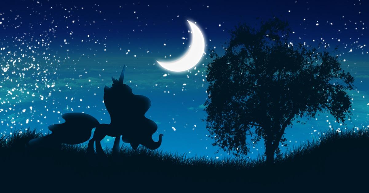 небольшой картинки фоны с луной пони другие