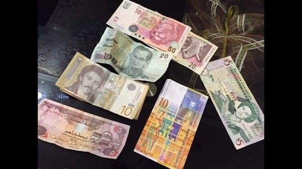 Моя не большая коллекция денег. Валюты стран :Швейцарии, Африки, Японии, Доминиканской республики, Сербии и Саудовской Аравии.