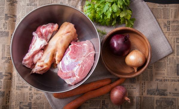 """""""Коротко и ясно"""" Экспресс-холодец для ленивых. из Одессы с морковью, Бра, кулинария, еда, рецепт, длиннопост, холодец, мультиварка"""