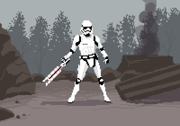 8-bit Star wars