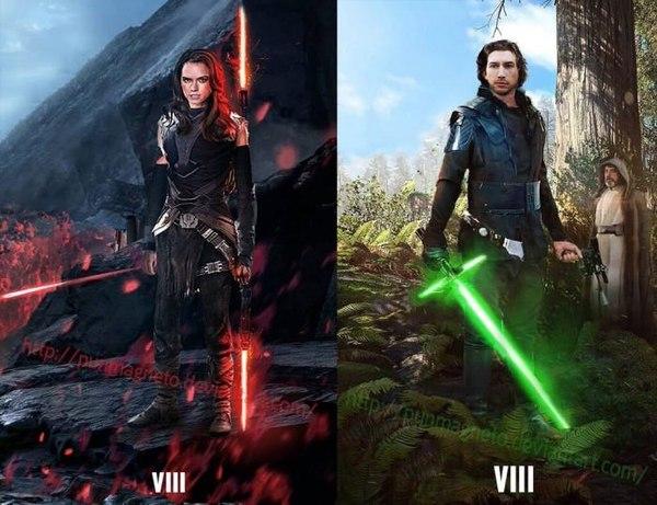Поменялись местами Star wars, Звездные войны VII, Кайло рен, Рей, Поменялись местами