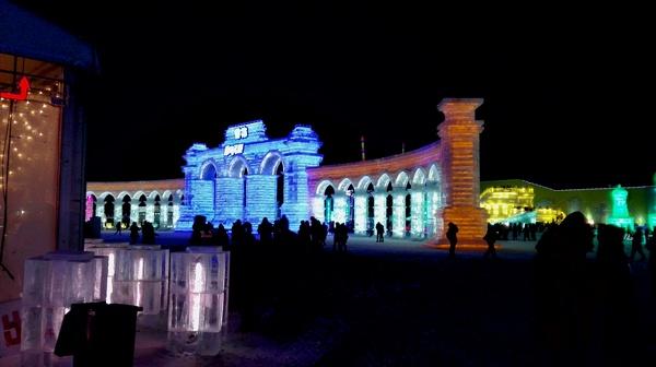 Мир снега и льда в Харбине Китай, Харбин, Мир снега и льда, Ледяная скульптура, Гифка, Длиннопост