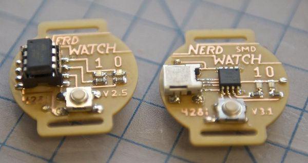 БИНАРНЫЕ ЧАСЫ «NERD WATCH» НА ATTINY85 TechnoBrother, Схема, Своими руками, Atmel, AtTiny, Nerd Watch, Двоичный код, Техногикам, Видео, Длиннопост