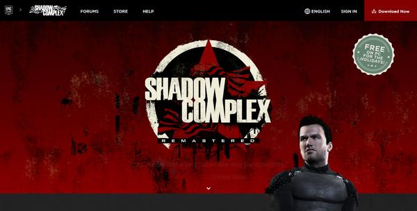 Shadow Complex игра на движке Unreal3 раздача нахаляву Халява, Shadow Complex, Игры, ПК, Раздача, Epic Games