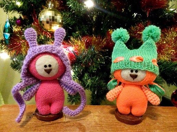 Два новых чудика на новый год. Мягкая игрушка, подарок, красавчики, Няша, рукоделие