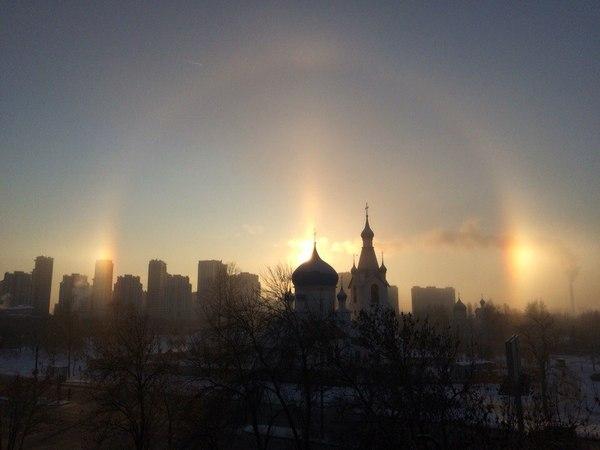 "Из окна увидел "" Гало "" Солнце, Гало, Красота, Санкт-Петербург"
