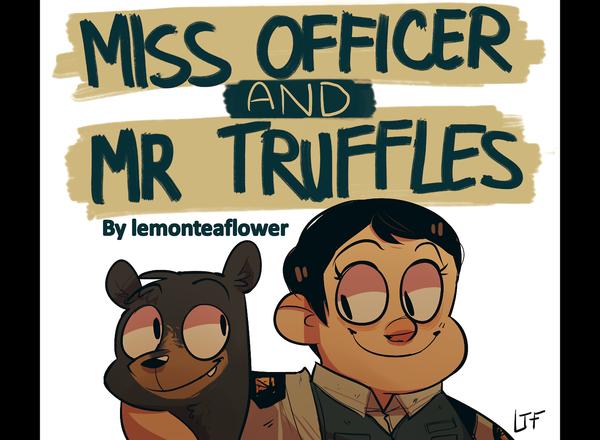 Мисс Офицер и Мистер Трюфель Полиция США, Медведь, Смешное, Комиксы, Арт, Мультфильмы, Гифка, Длиннопост
