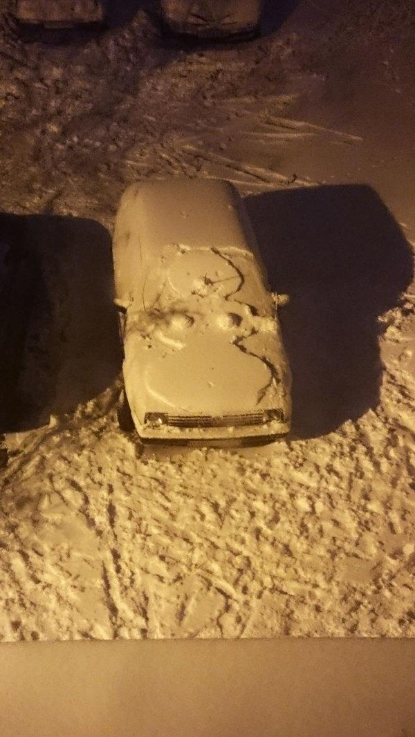 Снеговик Снеговик, Машина, Зима, Забавное, Могилев, Шакалы, Длиннопост