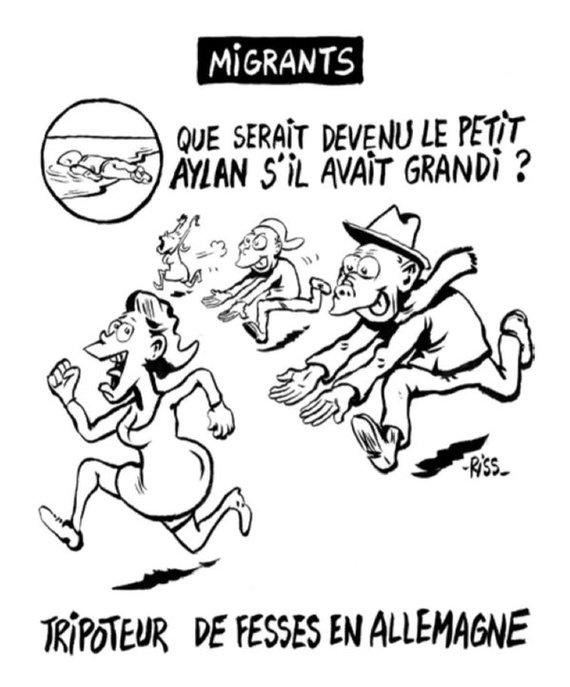 Charlie Hebdo нарисовали очередную карикатуру Charlie Hebdo, Политика, Кельн, Карикатура, Франция