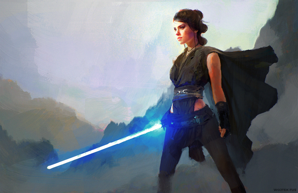 Rey by WojtekFus Rey, Star wars, Star wars episode 7, Арт