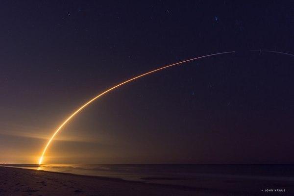 Вчерашний запуск ракеты Falcon 9