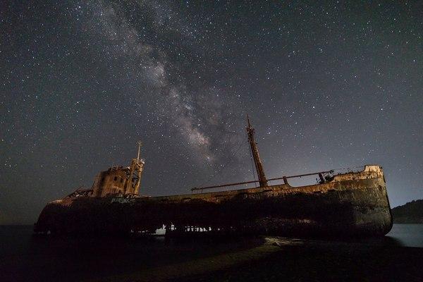 Космический корабль Фото, Корабль, Звёзды, Млечный путь, Космос