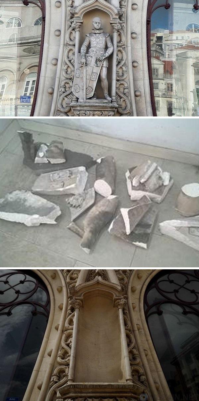 Турист уничтожил статую в попытке сделать селфи Селфи, Новости, Длиннопост