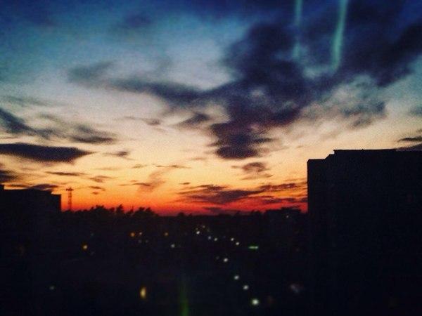 Просто красивый закат закат, солнце, Небо