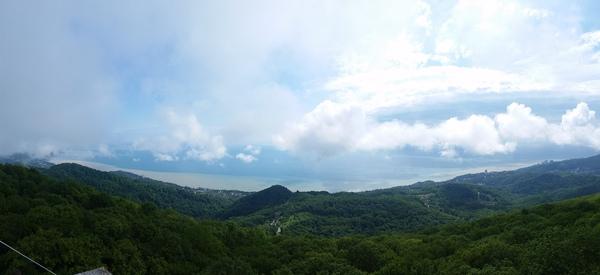 Горы, море, облака - это наша красота. Сочи, Ахун