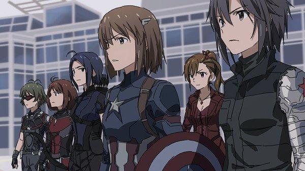 First Idol: Civil War Аниме, Фильмы, Crossover, Marvel, Idolmaster, Первый мститель