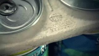 Съедобная упаковка для пива для морских обитателей! Упаковка, Пиво, Разработка, Защита, Природа, Гифка