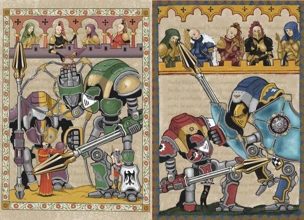 Гравюры из Библии экклезиарха Мациевского. М31. Warhammer 40k, Имперский Рыцарь