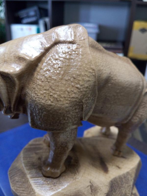 Как я носорога на станке запилил ) ЧПУ, длиннопост, статуэтка, фрезеровка на ЧПУ, носорог, как работает ЧПУ, видео
