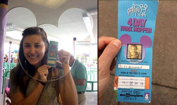 Американка попала в Диснейлэнд по билету, купленному 22 года назад Удача, Диснейленд, Билет, длиннопост