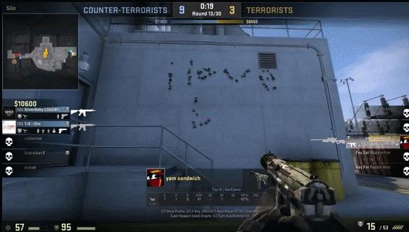 Когда прервал художника за работой Игры, Headshot, Cs:GO, Гифка