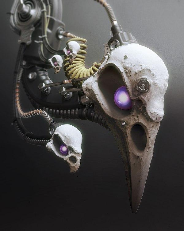 Шикарные арты Mark van Haitsma. Art time, Game art, Render, 3d, System, Арт, Киберпанк, Длиннопост