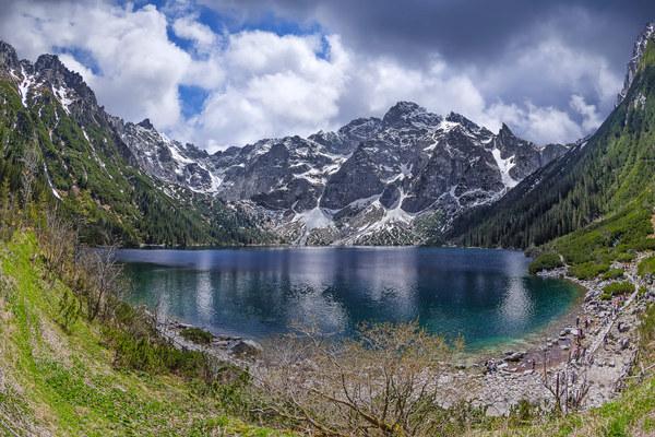 Озеро Морское око, Польша Природа, Озеро, Красота, Фото, Туризм