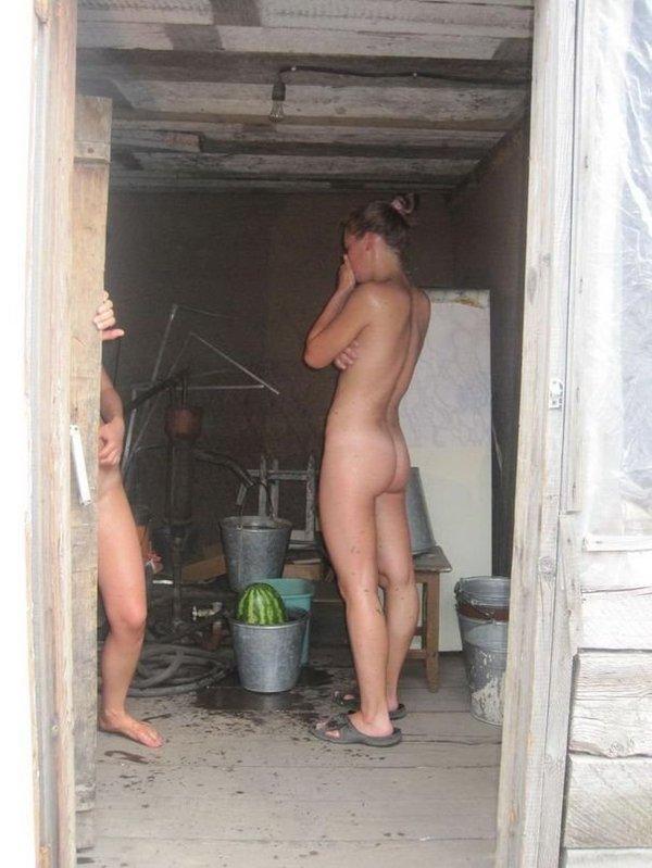 Секс в деревне скрытая камера