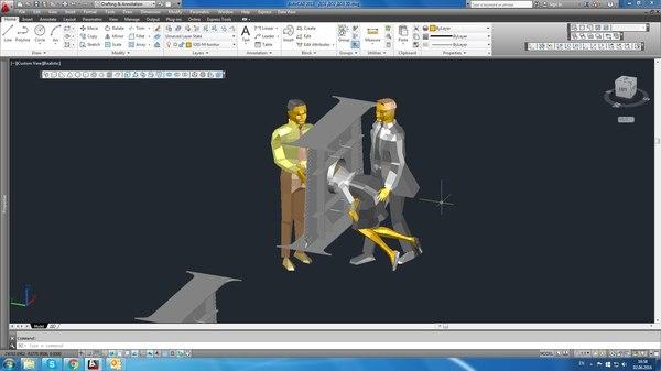 3D-модель облегчает сборку AutoCud, 3D, Картинки, Металл, Человек