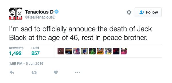 СМИ сообщили о смерти актёра Джека Блэка Джек блэк, Фильмы, Новости, Смерть, Актеры, Голливуд, Текст, Шок