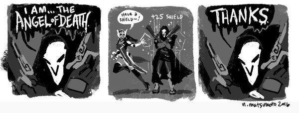 Ангел Смерти Overwatch, Reaper, Blizzard, Комиксы