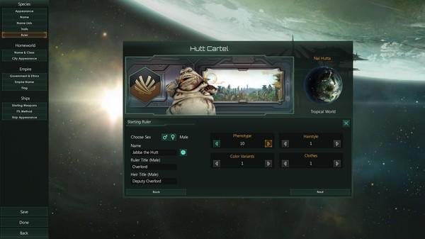 Мод Stellaris - раса Хаттов (Звездные Войны) stellaris, Игры, стратегия, 4X, star wars, Хатты, джабба хатт