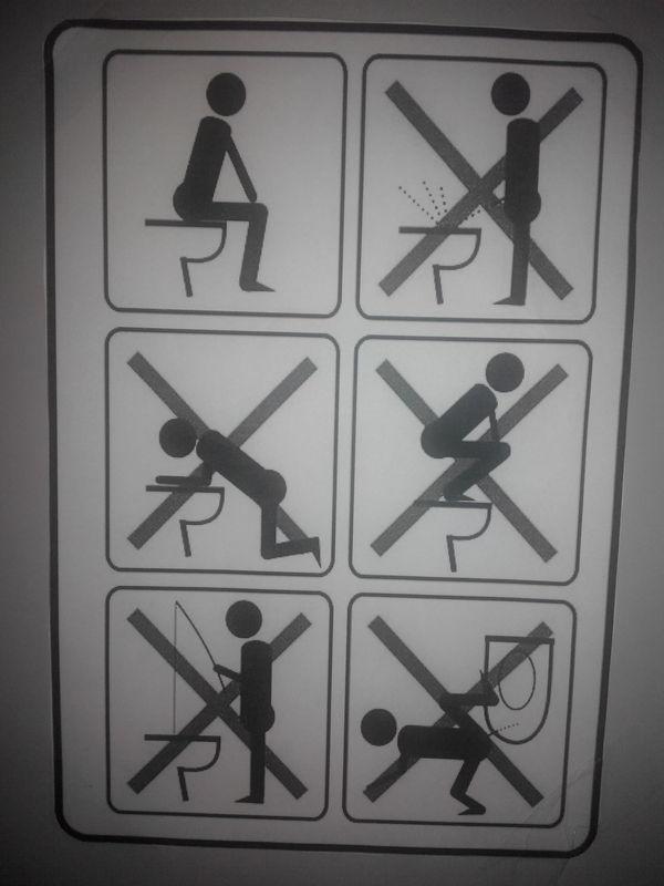 Инструкция пользования туалетом Сфотографировано на шапку, Фотография