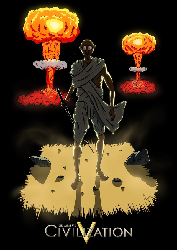 Ганди Игры, Civilization 5, Ганди, Не мое