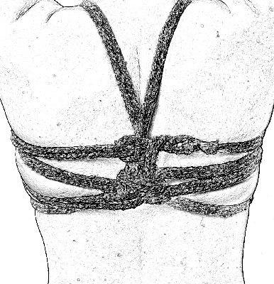 Обвяз грудей (шибари/бондаж). Часть 1. BDSM, Shibari, Бондаж, Дневная быль, Пошлости, Удовольствие, Гифка, Видео, Длиннопост