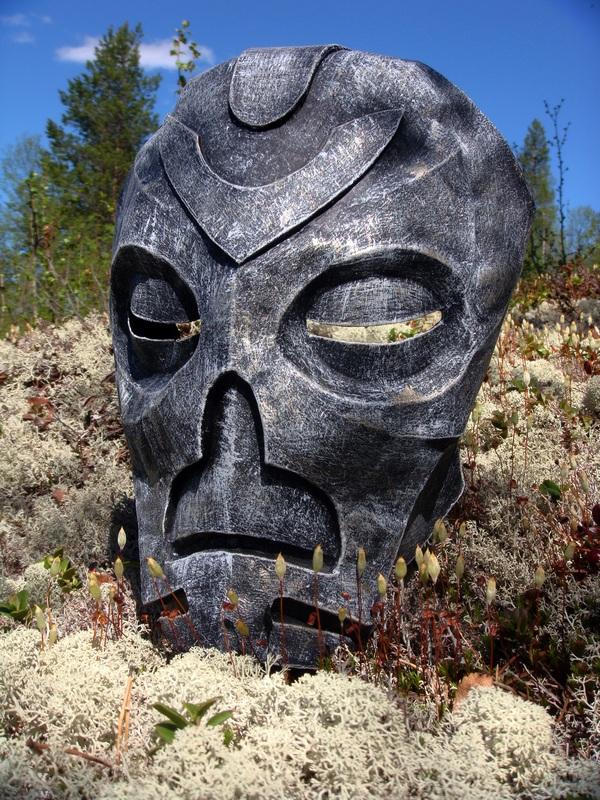 Маска драконьего жреца The Elder Scrolls, Pepakura, Фото, Длиннопост