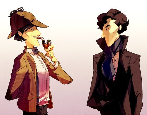 sherlock holmes and doctor who A man who solves problems with his massive brain, always at least one step ahead of those around him, helped by a faithful companion sherlock holmes or doctor who.