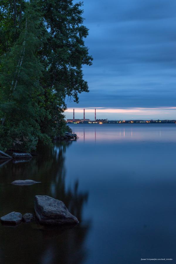 Рассвет на озере Исеть Фото, Грэс, Свердловская область, Исеть, Озеро, Река, Рассвет