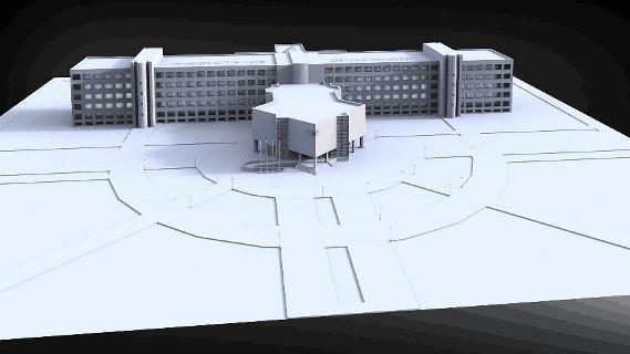 Как я практику защищал или первый опыт в 3D 3D, Гифка, Здание, Казань, Icewizard, Cgimedia, Каи, Длиннопост