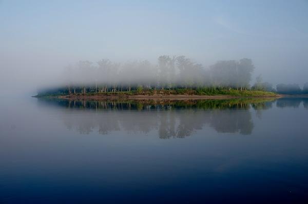 Утро.Туман.Кама Красота, Природа, Утро, Туман, Кама
