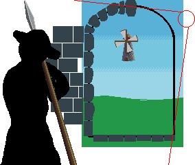 Граница на замке Длиннопост, Pixel art, Гифка, Рисование, Пошагово, Фэнтези, Coub