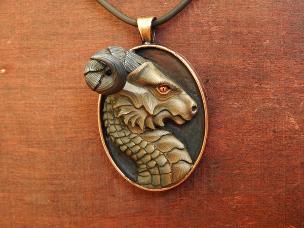 "Кулон ""защитник"" пятница, полимерная глина, кулон, дракон, моё, рукоделие, Своими руками, хобби"