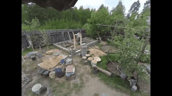 Возведение бани, timelapse Таймлапс, Строительство, Баня, Деревня, Гифка, Видео