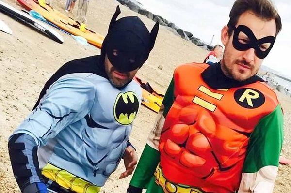 Реальные Бэтмен и Робин спасли тонущего мужчину Новости, Длиннопост, Интересное, Супергерои, Бэтмен, Робин, Спасение