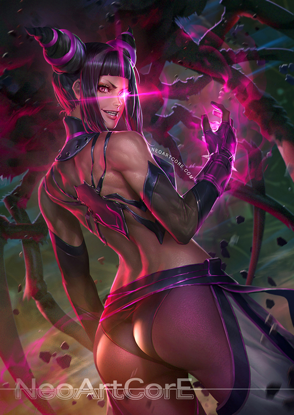 Juri Han NeoArtCore, крепкая девушка, Street Fighter, Juri han, арт