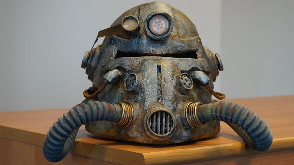 Шлем по мотивам Fallout Fallout pepakura шлем t-51b, Pepakura, Силовая броня, Длиннопост, Моё, Fallout